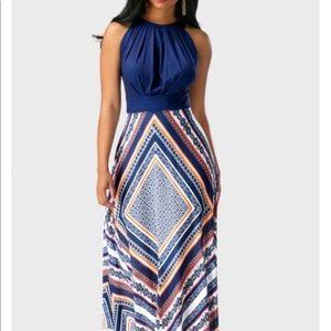 Geometric print maxi dress NWOT